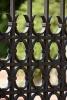 Geschmiedetes Einfahrtstor - Tor aus Stahl gefertigt- Gartentor - Detail: Ringe geben dem Tor die Stabilität