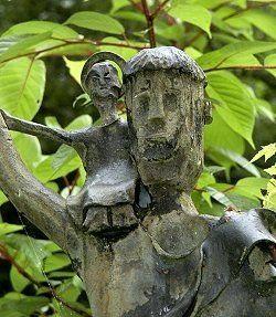 Christopherus - Christopherusskulptur - Skulptur