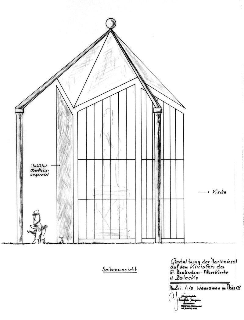 Marieninsel - Zeichnung