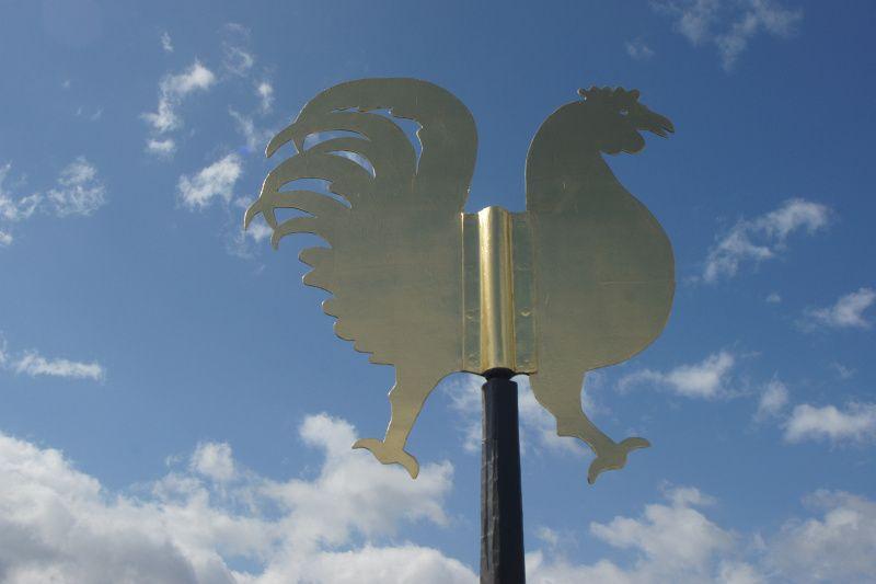 Soest, Meiningsen; Turmkreuz - Kupferhahn vergoldet